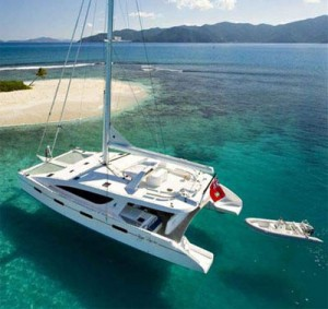 fully crewed catamaran sailing vacations in the BVIs